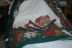 VARIOUS CHRISTMAS KITCHEN LINENS