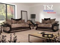 **FREE DELIVERY: NEW EXTRA LARGE AMY 3 AND 2 SEATER SOFA SUITE SETTEE COUCH SOFA FABRIC AND LEATHER