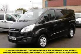 2015 FORD TRANSIT CUSTOM 270/125 LIMITED L1H1 SWB DIESEL VAN IN BLACK WITH ONLY