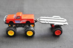 motormax diecast toys 4 x 4 freedom 704 + remorque
