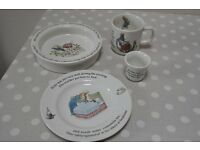Wedgewood Peter Rabbit children's dinner set with mug bowl egg cup and plate