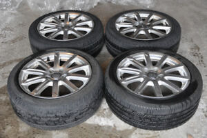 "17"" AUDI SET OF RIMS AND ALL SEASON USED TIRES FOR SALE"