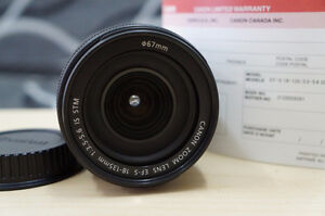 like new canon EF S 18 135 IS STM zoom lens