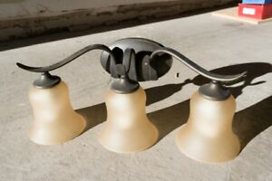 3-Light Bronze Bathroom Vanity Light