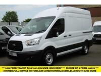 2015 FORD TRANSIT 350/155 L2H3 MWB HIGH ROOF DIESEL VAN WITH AIR CONDITIONING,FR