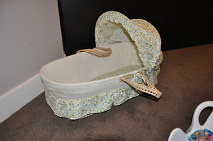 Baby basket and baby bath seat combo