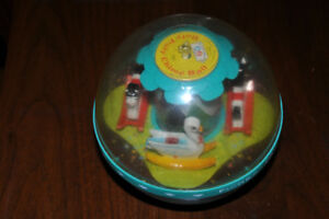 Vintage 1966 boule Fisher Price Roly Poly Chime Ball #165