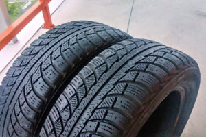 Set of two 185/60/15 Gislaved winter tires. 7/32nd tread