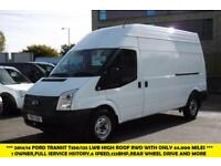 2014 FORD TRANSIT 350/125 LWB HIGH ROOF DIESEL VAN WITH ONLY 44.000 MILES,1 OWNE