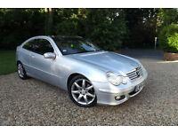 2004 54 Mercedes-Benz C180 Kompressor 1.8 AUTOMATIC SE COUPE 77K LOW MILES FSH
