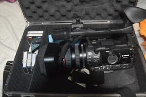 Canon HD Video Camera Model XHA1s & Manfrotto Tripod & JVC tapes