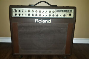 Roland 100 watts Acoustic Chorus & Line 6 amps