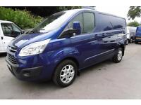 2014 FORD TRANSIT CUSTOM 270/155 LIMITED SWB IN DEEP IMPACT BLUE WITH ONLY 37.00