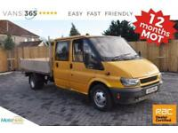 Ford Transit NO VAT DOUBLE CAB FULL ALLOY BODIED TIPPER NEW MOT 350L TOW BAR