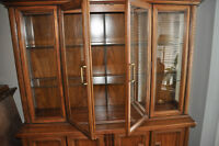 Solid Oak china/display cabinet