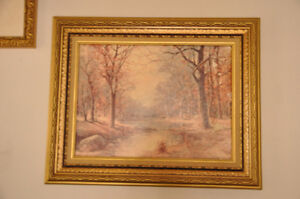 Gold Vintage Frame with Lovely Print