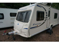 2010 BAILEY PAGEANT SANCERRE FIXED BED - 4 BERTH CARAVAN - ATC - SPACIOUS