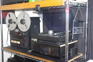 stereo equipment plus musical items for sale