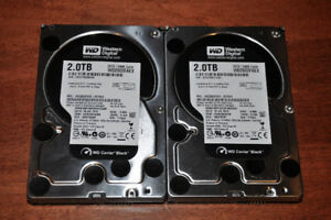 Western Digital 2TB Black Hard drives for sale