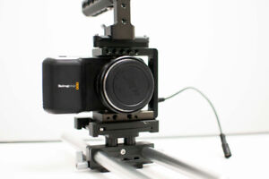 Blackmagic Pocket Camera with cage and speedbooster