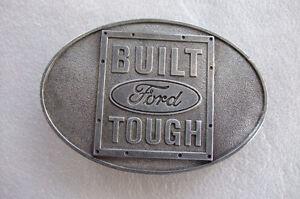 Vintage Collectible BUILD FORD TOUGH Belt Buckle.