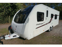 2014 SWIFT CHALLENGER SE 6 BERTH CARAVAN - TWIN AXLE - FIXED BED - END WASH