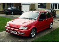 fiesta xr2i or rs turbo wanted in red g or h reg spares or repair considered