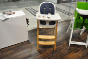 OXO High Chair - Sprout Chair Birch/ Navy