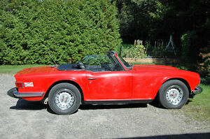 Triumph TR6 with OVERDRIVE
