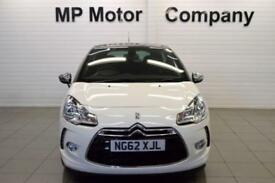 2012 62 CITROEN DS3 1.6 DSTYLE 3D 120 BHP AUTO SPORTS HATCH, WHITE,22-000M SH,