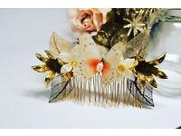 Bridal accessories, bridal hair piece, tiara, hair vine , handmade, bridesmaids, Flower girls,