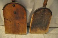 Pelles en bois antique