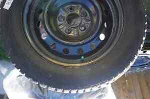 4 Winter Tires on Steel rims Kitchener / Waterloo Kitchener Area image 2