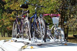 Rack à vélos pour tente-roulotte