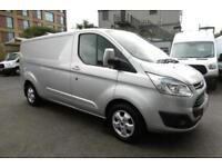 2015 FORD TRANSIT CUSTOM 290 LIMITED L2H1 125 LWB IN METALLIC SILVER WITH AIR CO