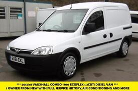2012 VAUXHALL COMBO 1700 ECOFLEX 1.3CDTI DIESEL VAN 1 OWNER FROM NEW WITH AIR CO