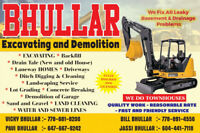 ++++++++++ Excavating & Drainage Services ++++++++++