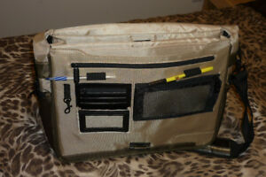 laptop, document bag
