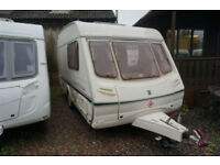 SALE!! ABBEY AVENTURA 312 2 BERTH LIGHTWEIGHT CARAVAN - END KITCHEN