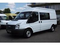 2011 FORD TRANSIT 280/115 MWB MEDIUM ROOF 6 SEATER COMBI CREW VAN WITH ONLY 61.0
