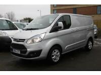 2014 FORD TRANSIT CUSTOM 270/125 LIMITED L1H1 SWB DIESEL VAN IN SILVER WITH ONLY