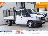 2011 61 FORD TRANSIT 2.4 350 DRW 1D 115 BHP DIESEL TIPPER