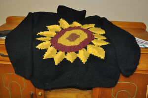 Hand made wool sweater-Super Cute
