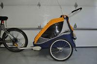 Remorque à vélo double  Chariot Cabriolet
