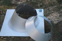 4xFlench de couverture pour tuyau de cheminer 6``