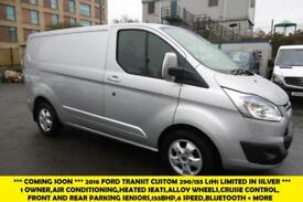 2016 FORD TRANSIT CUSTOM 290/155 LIMITED L1HI SWB IN METALLIC SILVER WITH AIR CO