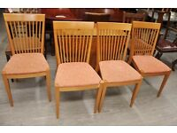 Xmas SALE NOW ON!! Set of 4 Dining Chairs - For Reupholstery Project - Can Deliver For £19