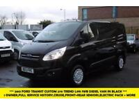 2013 FORD TRANSIT CUSTOM 270 TREND L1H1 SWB DIESEL VAN IN BLACK WITH CRUISE CONT