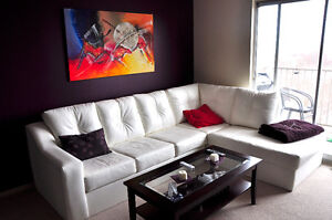 White Leather Couch Sectional Couch