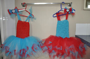 New tulle dresses, size 2-3 Thing 1 and 2 tulle birthday outfits